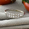 Серебряное кольцо Анжела вставка белые фианиты вес 1.29 г размер 16.5, фото 2