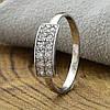 Серебряное кольцо Анжела вставка белые фианиты вес 1.29 г размер 16.5, фото 3