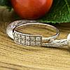 Серебряное кольцо Анжела вставка белые фианиты вес 1.29 г размер 16.5, фото 4