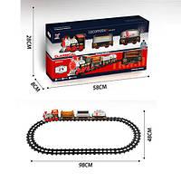 Залізниця 1022-2 98-48 см., локомотив, вагон 3 шт., муз., світло, бат., кор., 58-28,5-8 см.