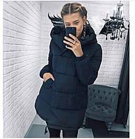 Женская зимняя куртка синтепон 300 мод.505, фото 2