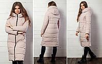 Женская теплая удлиненная зимняя куртка с капюшоном (синтепон 300), фото 4