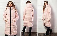 Женская теплая удлиненная зимняя куртка с капюшоном (синтепон 300), фото 6