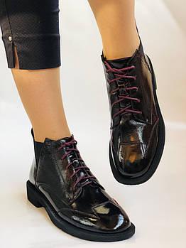 Высокое качество. Женские осенние ботинки Челси. На низкой подошве. Натуральная кожа. Polann. Р 36 37