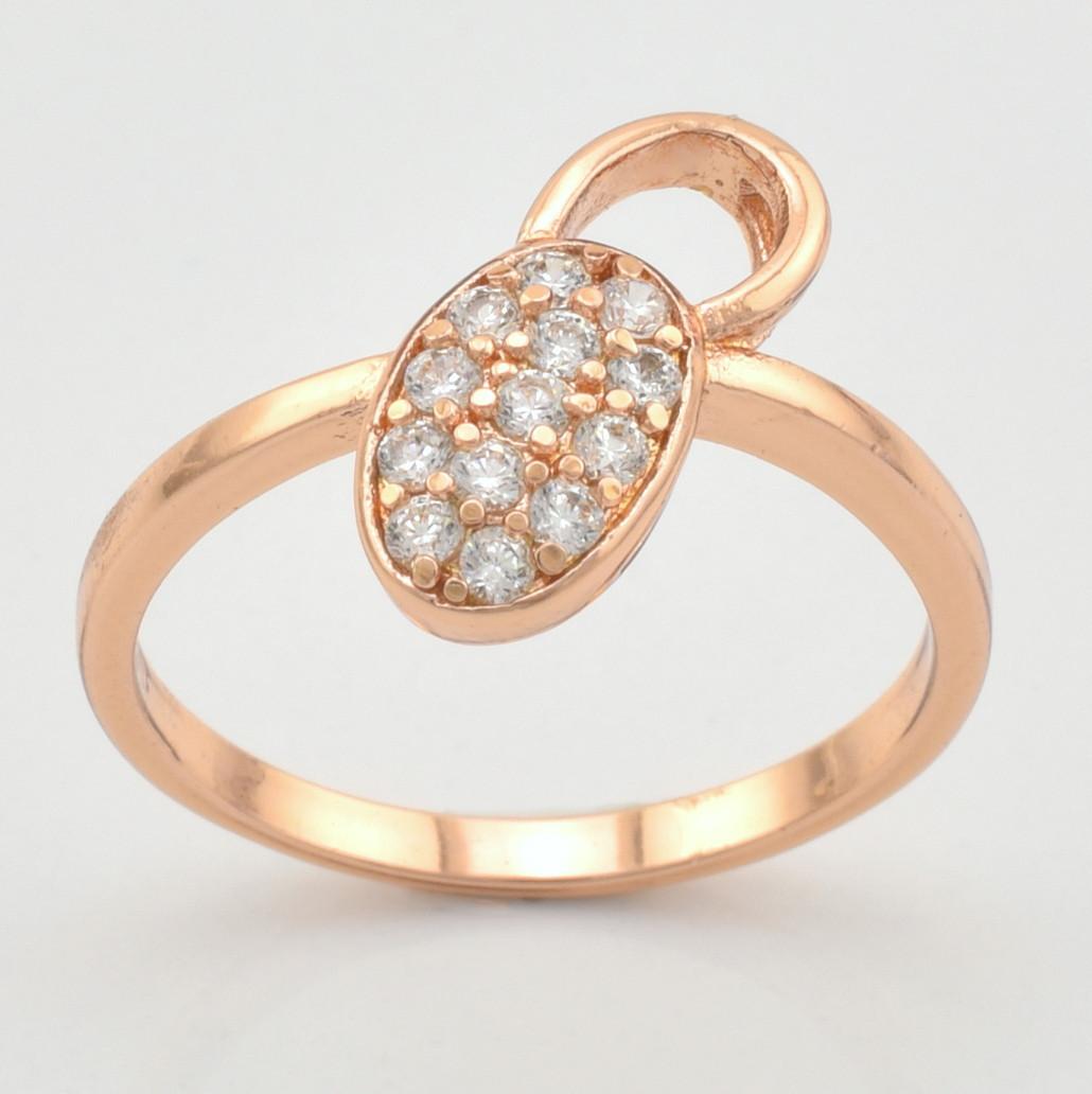 Кольцо Xuping 10278 размер 16 белые фианиты позолота РО
