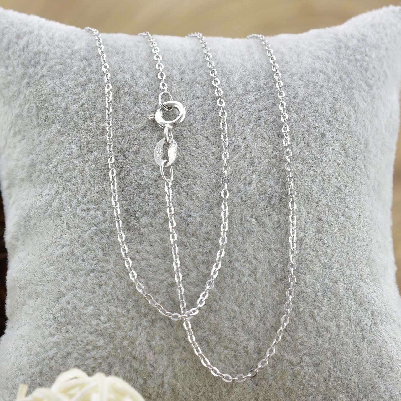 Серебряная цепочка длина 40 см ширина 1 мм вес 1.13 г