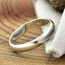 Кольцо обручальное Xuping 13872 ширина 4 мм позолота Белое Золото размер 22