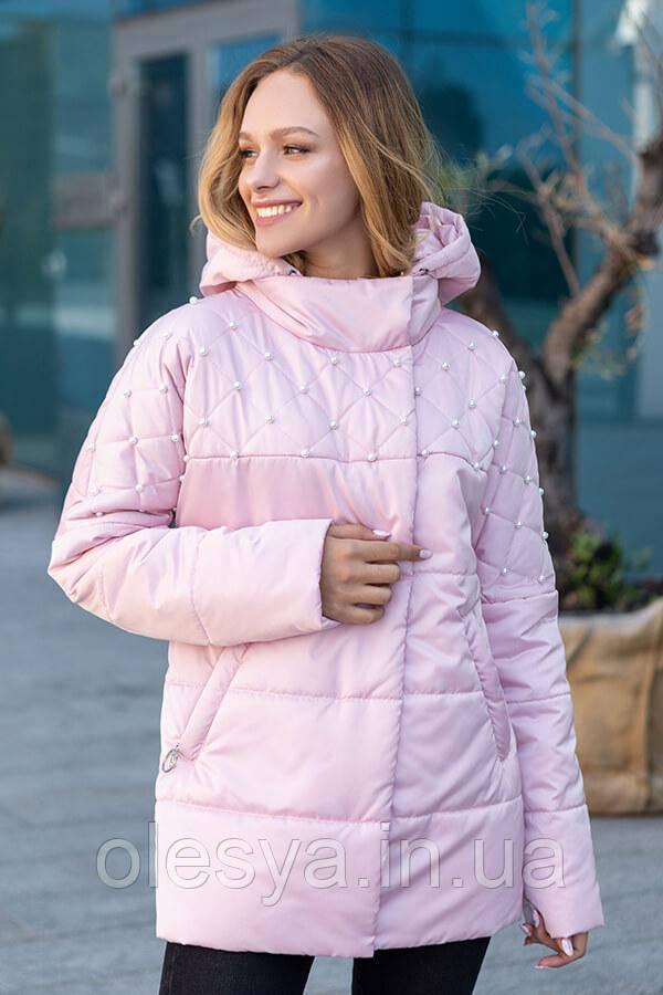 Демисезонная женская куртка ТМ Miorichi Бусинка Размеры 46- 54