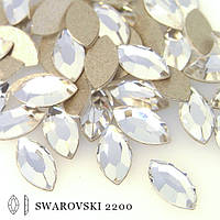 Стразы swarovski (арт2200).Сrystal 8х4мм. за 1шт