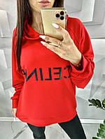 Толстовка с капюшоном / худи /, арт N191, цвет красный / красного цвета