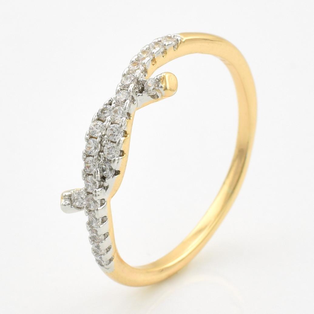 Кольцо Xuping 10685 размер 16 белые фианиты позолота 18К