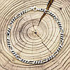 """Серебряный браслет с чернением """"Фигаро"""", длина 21 см, ширина 3.5 мм, вес серебра 5.1 г, фото 2"""
