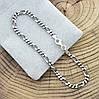"""Серебряный браслет с чернением """"Фигаро"""", длина 21 см, ширина 3.5 мм, вес серебра 5.1 г, фото 3"""