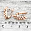 Серьги Xuping 21676 размер 17х6 мм вес 1.8 г позолота РО, фото 2