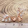 Серьги Xuping 24282 размер 18х12 мм белые фианиты вес 2.8 г позолота РО, фото 2