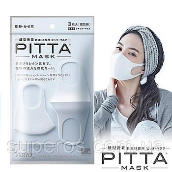 Багаторазова маска пітта біла Pitta Mask White 3 шт