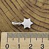Серебряный кулон размер 19х10 мм вставка белые фианиты вес 1.1 г, фото 2