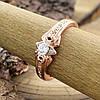 Кольцо Xuping Спаси и Сохрани 10940 размер 17 вес 2.5 г белые фианиты позолота РО, фото 2