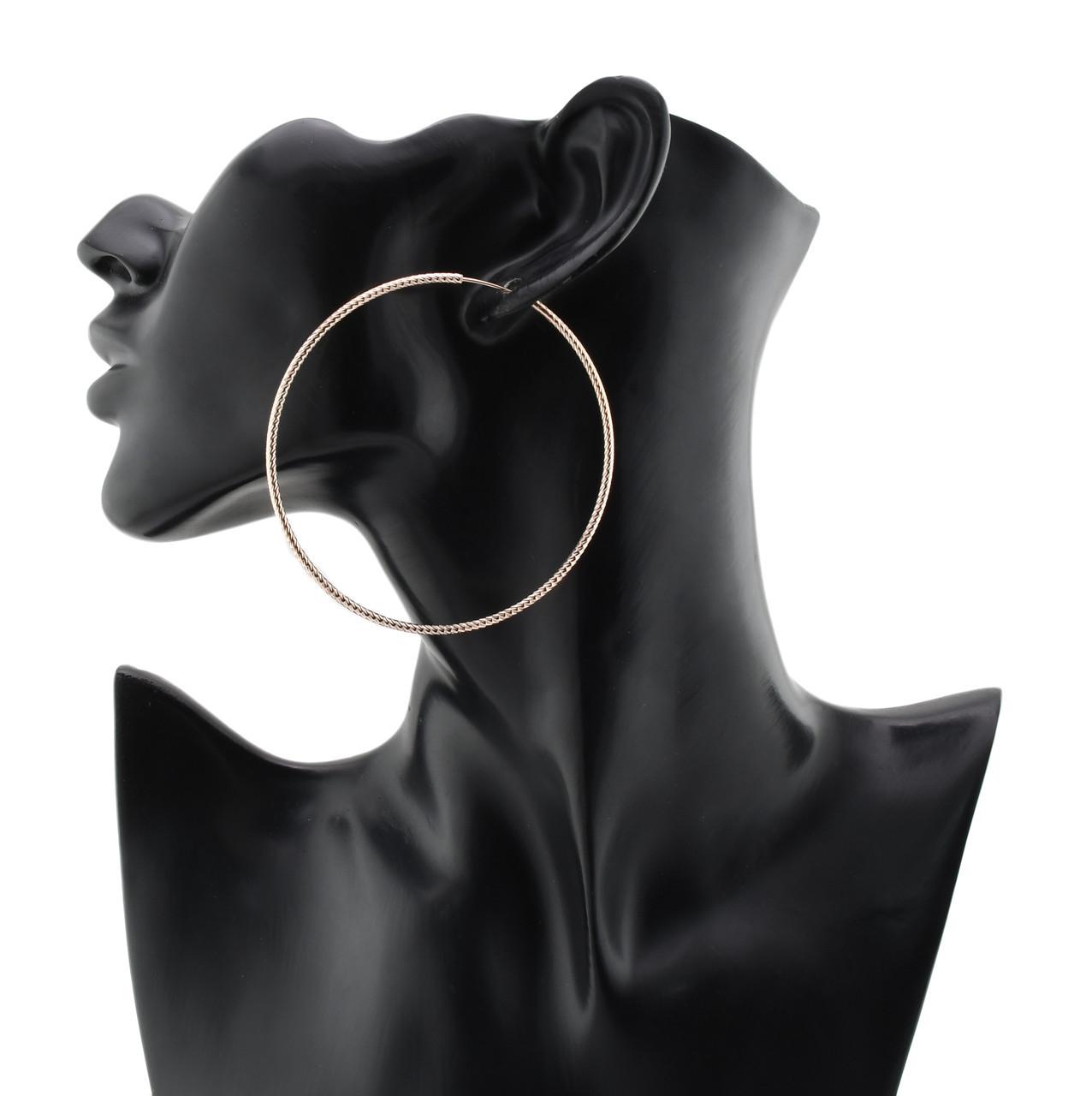 Серьги Xuping кольца код 21979 размер 70х2 мм вес 11 г позолота РО