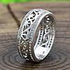 Серебряное кольцо Украиночка вставка белые фианиты вес 3.9 г размер 17, фото 5