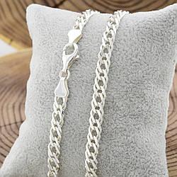Серебряная цепочка Ромбик скруглённый длина 55 см ширина 6 мм вес 23.4 г