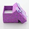 Коробочка для кольца-серег 741208 фиолетовая, размер 4*5 см, фото 2