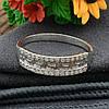 Серебряное кольцо Возрождение №2 вставка белые фианиты вес 1.6 г размер 20, фото 3