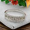 Серебряное кольцо Возрождение №2 вставка белые фианиты вес 1.6 г размер 20, фото 4