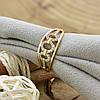 Кольцо Xuping 14455 размер 17 ширина 8 мм вес 1.6 г белые фианиты позолота 18К, фото 4