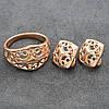 Набор Xuping Золотое Солнце 65076 кольцо + серьги 17х17 мм позолота РО размер 21, фото 5