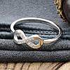 Серебряное кольцо Бесконечность вставка белые фианиты вес 1.4 г размер 17.5, фото 4