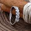Кольцо серебряное женское Камила вставка белые фианиты размер 16, фото 2