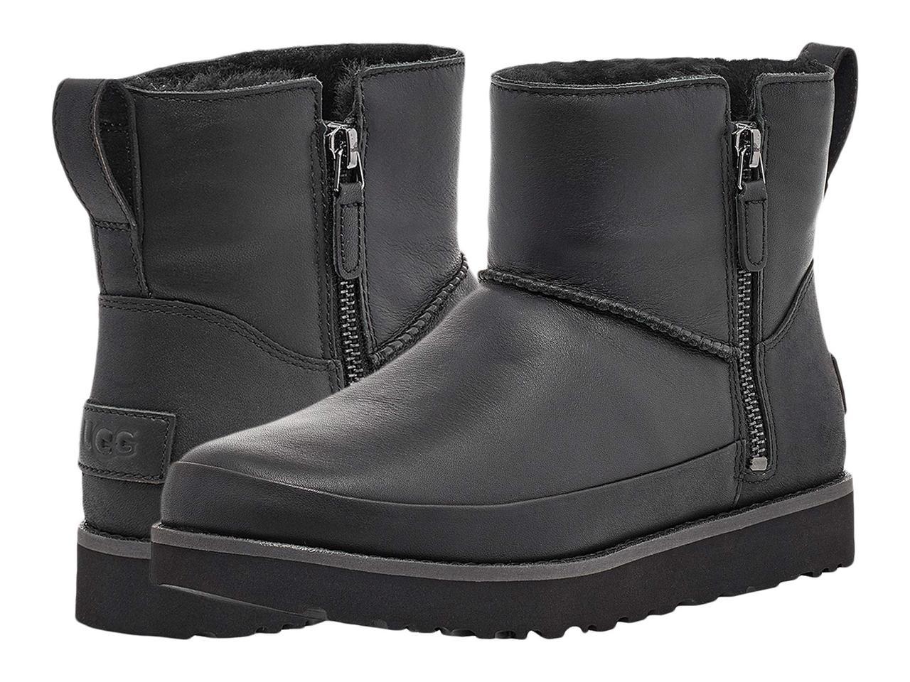 Ботинки/Сапоги (Оригинал) UGG Classic Zip Mini Black