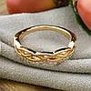 Кольцо Xuping 14656 размер 18 ширина 5 мм вес 2.4 г белые фианиты позолота 18К, фото 2