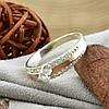 Серебряное кольцо с золотом Ника вставка белые фианиты вес 3.2 г размер 21.5, фото 2