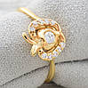 Кольцо Xuping 11873 размер 18 ширина 8 мм куб.цирконий вес 1.7 г позолота 18К, фото 4