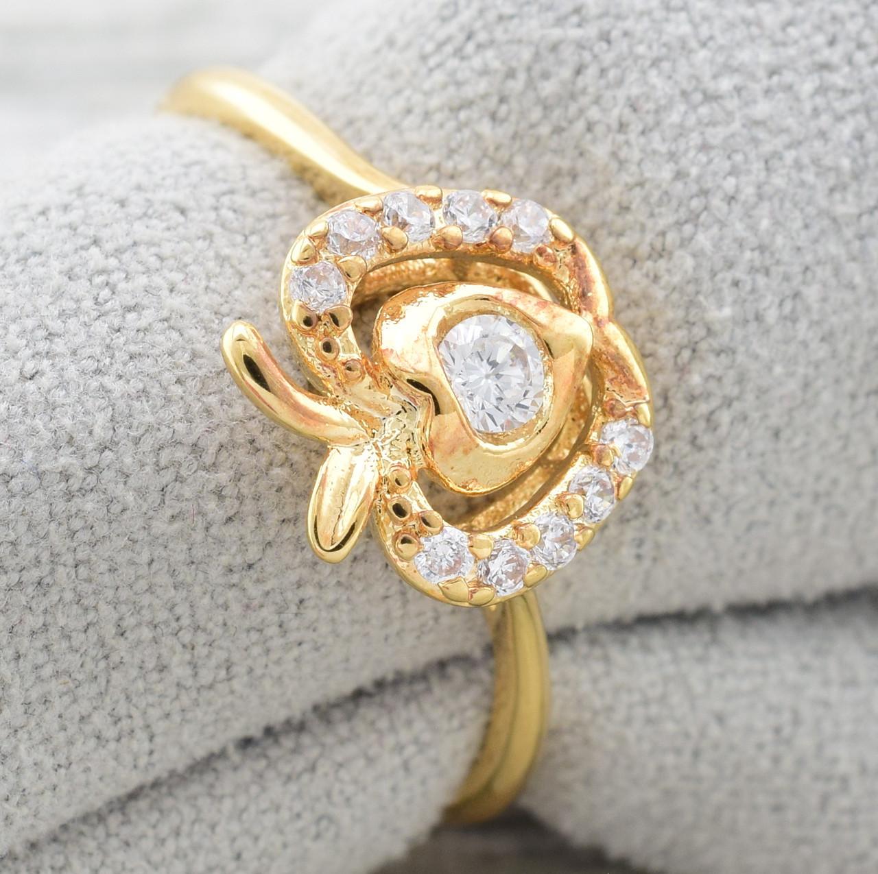 Кольцо Xuping 11873 размер 20 ширина 8 мм куб.цирконий вес 1.7 г позолота 18К