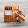 Коробочка маленькая для кольца серег коричневый цвет 741157 размер 4х4 см, фото 2