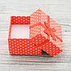 Коробочка маленькая для кольца серег красный цвет 741157 размер 4х4 см, фото 2