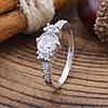 Кольцо серебряное женское Дели вставка белые фианиты размер 18, фото 4