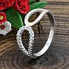 Серебряное кольцо с золотом вес 1.86 г вставка белые фианиты размер 18, фото 2