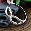 Серебряное кольцо с золотом вес 1.86 г вставка белые фианиты размер 18, фото 3