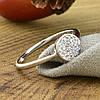 Кольцо Xuping 14726 размер 20 ширина 7 мм вес 1.4 г белые фианиты позолота Белое золото, фото 3