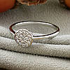 Кольцо Xuping 14726 размер 20 ширина 7 мм вес 1.4 г белые фианиты позолота Белое золото, фото 4
