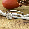 Кольцо Xuping 14726 размер 20 ширина 7 мм вес 1.4 г белые фианиты позолота Белое золото, фото 5