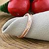 Кольцо Xuping 14462 размер 20 ширина 2 мм вес 1.5 белые фианиты позолота РО, фото 2
