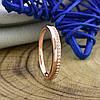 Кольцо Xuping 14462 размер 20 ширина 2 мм вес 1.5 белые фианиты позолота РО, фото 3