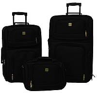 Набор чемоданов Bonro Best 2 шт и сумка черный