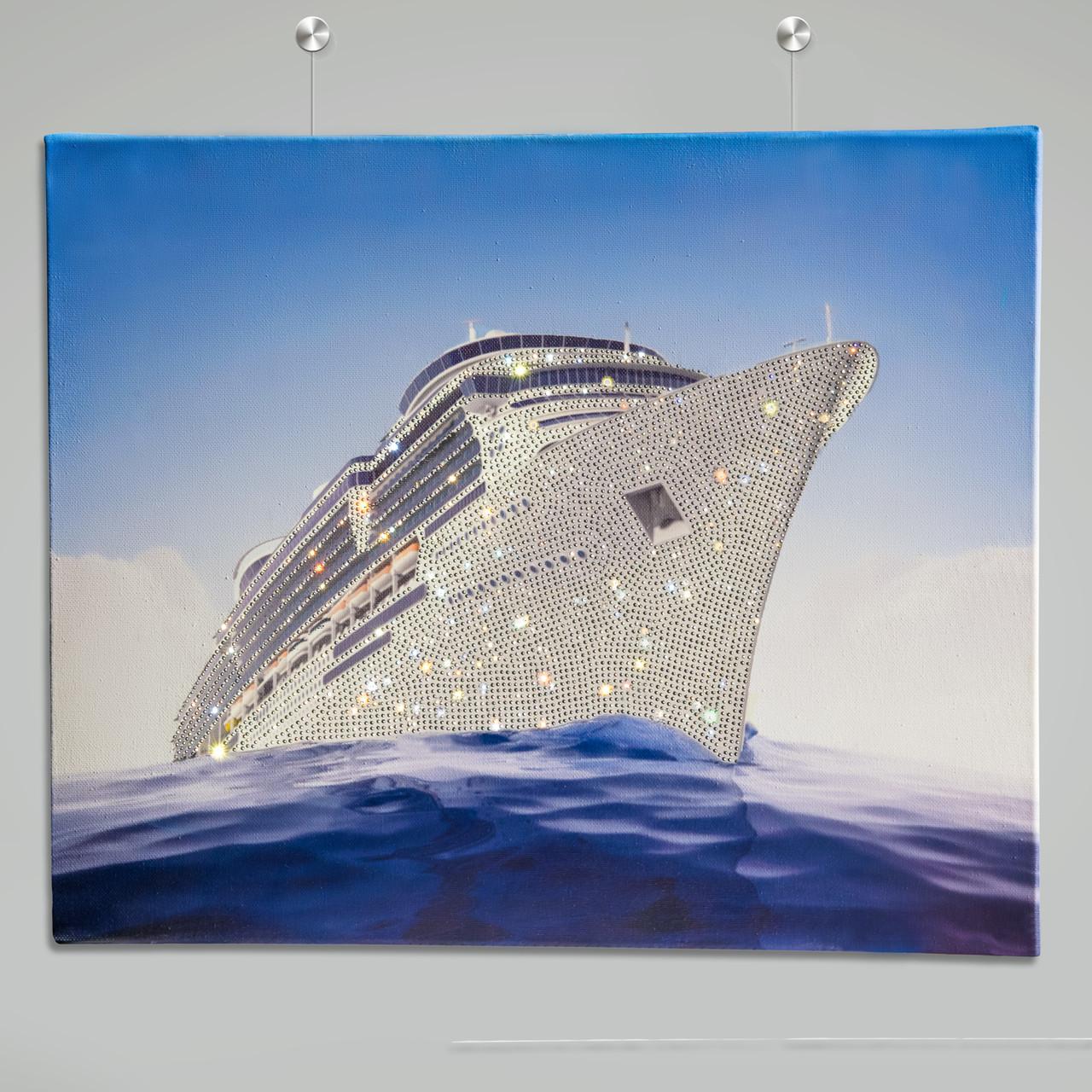 Картина зі стразами в інтер'єр Корабель [55 х 45 см ]