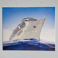 Картина со стразами в интерьер Корабль [55 х 45 см ]